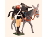 096 4 Toy Soldier Private with Mule carrying Gun Trail Kit
