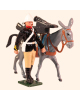0096 4 Toy Soldier Private with Mule carrying Gun Trail Kit