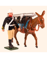 0096 5 Toy Soldier Private with Mule carrying Gun Kit