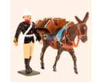 096 7 Toy Soldier Private with Mule carrying Supplies Kit