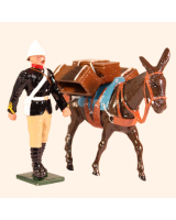 0096 7 Toy Soldier Private with Mule carrying Supplies Kit