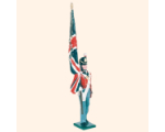 B1 03 Toy Soldier Ensign with King's Colour Marching British Line Infantry Kit