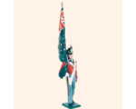 B1 04 Toy Soldier Ensign with Regimental Colour Marching British Line Infantry Kit