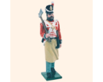 B1 07 Toy Soldier Pioneer with axe Marching British Line Infantry Kit