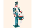 B1 09 Toy Soldier Drummer Marching British Line Infantry Kit