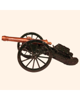 N2G Toy Soldier French Field Gun 1810 Painted
