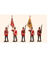 0026 Toy Soldiers Set Colours and Escort, The Buffs East Kent Regiment 1890 Painted