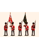 027 Toy Soldiers Set Colours and Escort, The Royal Northumberland Fusiliers 1900 Painted