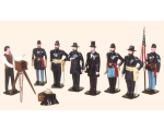 030 Toy Soldiers Set President Lincoln and his Generals Painted