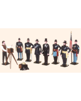 0030 Toy Soldiers Set President Lincoln and his Generals Painted