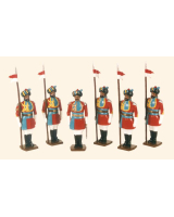 043 Toy Soldiers Set Governor's Body Guard bengal 1912 Painted