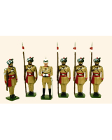 044 Toy Soldiers Set Corps of Guide Cavalry 1900 Painted