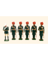 045 Toy Soldiers Set Mountain Artillery Battery 1900 Painted
