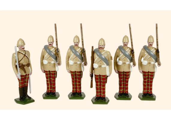 053 Toy Soldiers Set The 72nd Highlanders Afghanistan 1879 Painted