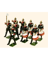 0056 Toy Soldiers Set The Fifes and Drum of the Prussian Line Infantry 1914 Painted