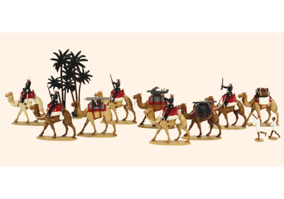058 Toy Soldiers Set Royal Artillery Gordon Relief Expedition 1884 Painted