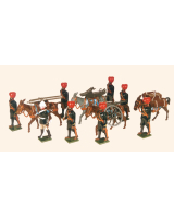 0065 Toy Soldiers Set Mountain Artillery Battery 1900 Painted