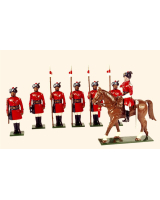 0066 Toy Soldiers Set 4th Regiment of Bengal Lancers 1900 Painted