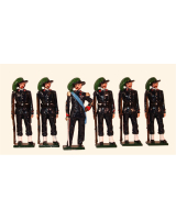 0071 Toy Soldiers Set Italian Bersaglieri 1900 Painted