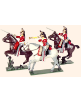 733 Toy Soldiers Set The 6th Inniskilling Dragoons Painted