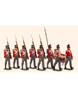 765 Toy Soldiers Set British Foot Guards Painted