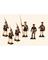 777 Toy Soldier Set Prussian Landwehr Infantry Napoleonic War Painted