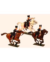 0780 Toy Soldier Set Landwehr Prussian Dragoons Napoleonic War Painted
