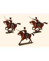 0781 Toy Soldier Set Landwehr Prussian Dragoons Napoleonic War Painted