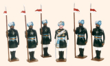 007b Toy Soldiers Set 17th Bengal Lancers 1901 Painted