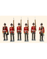 0087 Toy Soldiers Set Highland Light Infantry 1895 Painted