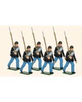 0918 Toy Soldiers Set Privates Union Infantry Marching Painted