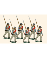 0919 Toy Soldiers Set Privates Confederate Infantry Marching Painted