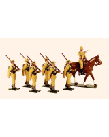 0092 Toy Soldiers Set The Naval Brigade Boer war 1899 Painted