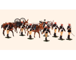 096 Toy Soldiers Set British Royal Artillery, Mountain Battery Painted