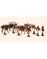 0096 Toy Soldiers Set British Royal Artillery, Mountain Battery Painted