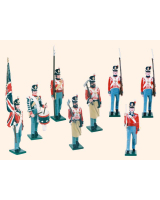 B1E Toy Soldiers Set British Line Infantry Painted