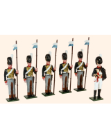 B2B Toy Soldiers Set The Mounted Rocket Corps of the RHA 1815 Painted