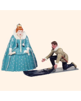 H3 Toy Soldier Queen Elizabeth I and Sir Walter Raleigh Kit