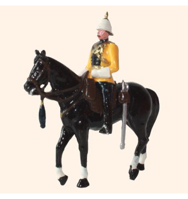 ToL 032 - M201 Toy Soldiers Set Officer Skinners Horse 1901 Painted