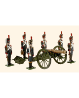 N2A Toy Soldiers Set French Foot Artillery of the Imperial Guard 1810 Painted