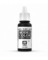 AV Vallejo Model Color VAL861 - Gloss Black - Paint
