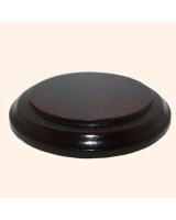 B-040 Wooden Base/ Plinth 9,4/ 12,5 Cm Diameter
