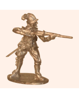 C 06e Musketeer in Pot Helmet Firing 30mm Willie Foot Kit