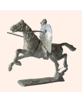 F 01a Norman Cavalry attacking with spear 30mm Willie Mounted Kit
