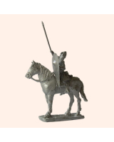 F 01b Norman Cavalry attacking with sword 30mm Willie Mounted Kit