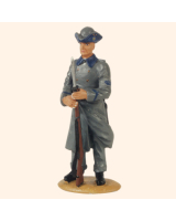 DS 25S T.S. Private Infantry in long coat Painted