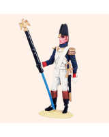 NF 04B Eagle Bearer French Garde Grenadiers Campaign Dress 1804-1815 Painted