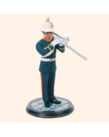SQN54 RMB 04 Musician with Trombone Royal Marine Band Painted