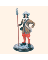 SQN54 177 Artilleryman The English Civil War 1643 Painted
