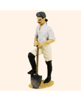 T54 488 Private digging Working Party The Prussian Army 1756 Painted